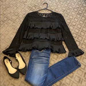 J Crew Lace Blouse